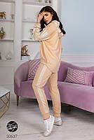 Комбінований спортивний костюм з трикотажу зі вставками плащової тканини з 42 по 48 розмір, фото 2
