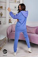 Комбінований спортивний костюм з трикотажу зі вставками плащової тканини з 42 по 48 розмір, фото 4