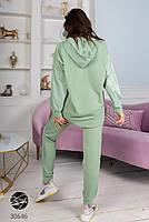Комбінований спортивний костюм з трикотажу зі вставками плащової тканини з 42 по 48 розмір, фото 9