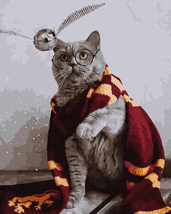 Картина по номерам Котик Гарри Поттер 50х40 см  Brushme Качество+, фото 2