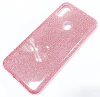 Чохол силіконовий Shiny з блискітками для Samsung Galaxy A11 A115F Рожевий
