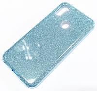 Чохол силіконовий Shiny з блискітками для Samsung Galaxy A11 A115F Блакитний