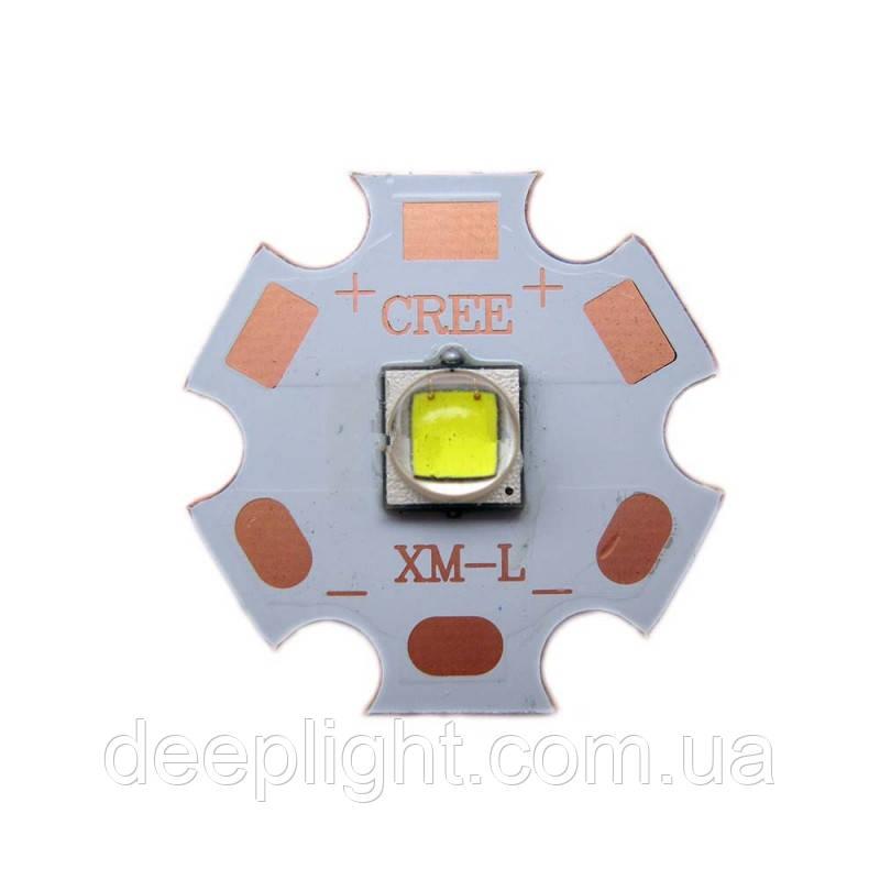 Светодиод Cree XM-L2 10W Медь DTP подложка 50 00К медная основа