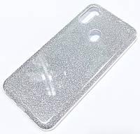 Чохол силіконовий Shiny з блискітками для Samsung Galaxy A11 A115F Сріблястий