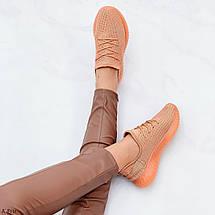 Кроссовки коричневые женские 8228 (ДБ), фото 2