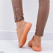 Кроссовки коричневые женские 8228 (ДБ), фото 3