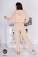 Молодежный костюм из укороченного худи с объёмным капюшоном и джоггеров с 42 по 48 размер, фото 7