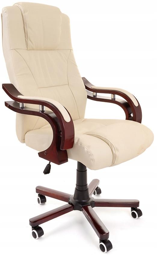 Компьютерное кресло офисное Prezydent Calviano механизм TILT Бежевое