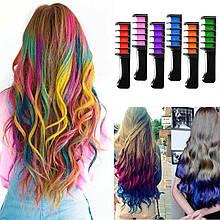 Набор расчесок с цветными мелками для волос Hair chalk in 6