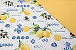 Лоскут однотонной ткани Duck жёлтого цвета 50*45 см, фото 2