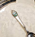 Коллекционная серебряная ложка Rheinfall, Швейцария, серебро 800, фото 3