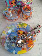 Детский набор стеклянной посуды для кормления  5 предметов