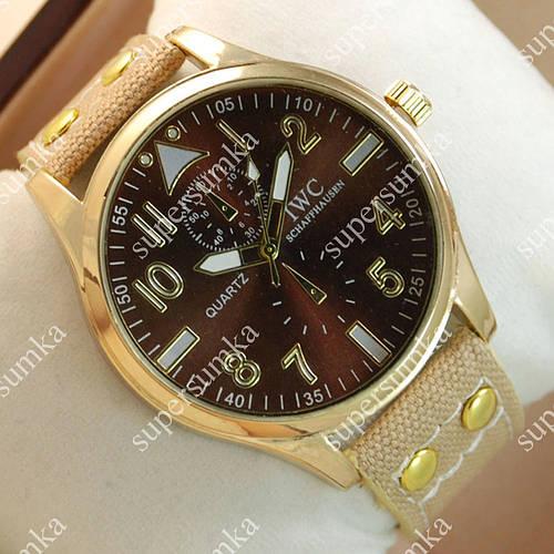 Молодежные наручные часы IWC Schaffhausen Light-brown/Gold/Brown 3504