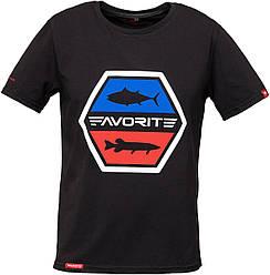 Футболка Favorite FB6 M шестиугол. лого ц:black