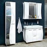 Зеркало с подсветкой и двумя шкафчиками Аква Родос Соло 100 белый, 1000х220х840 мм, фото 3