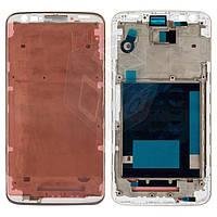 Рамка крепления дисплея для LG Optimus G2 D802, белый, оригинал