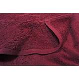 Махровая хлопковая простынь Tм Iris Home Beaujolais бордовый, фото 3