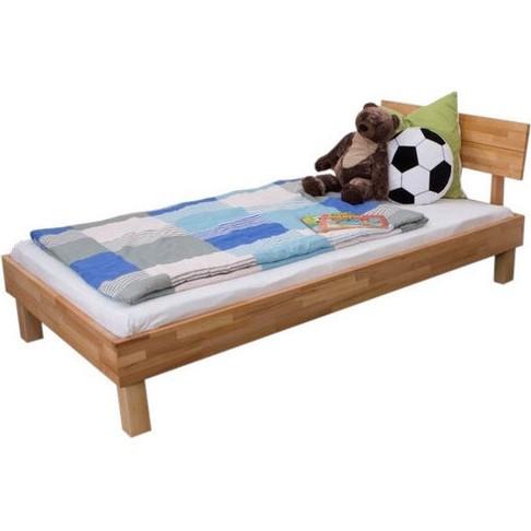 Односпальне ліжко B108 дерев'яні з бука ТМ Mobler