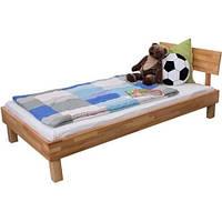 Односпальне ліжко B108 дерев'яні з бука ТМ Mobler, фото 1