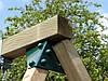 Дерев'яні гойдалки Sublime XL Deluxe з прогумованими гойдалками на ланцюгах, фото 5