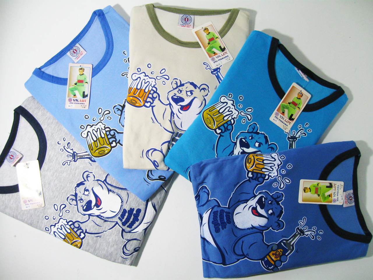 Пижама трикотажная с начёсом для мальчиков, размеры 158, арт. 71