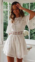 Пляжная белое платье
