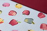 Лоскут однотонної тканини Duck бордового кольору 50 * 45 см, фото 2