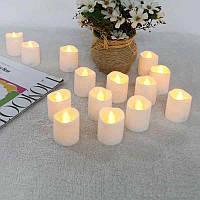 Светодиодная свеча с имитацией пламени 7см - 12шт, фото 1