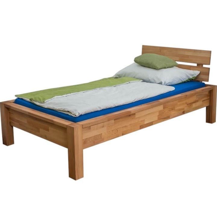 Односпальне ліжко B109 90x200 дерев'яні з бука ТМ Mobler