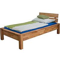 Односпальне ліжко B109 90x200 дерев'яні з бука ТМ Mobler, фото 1