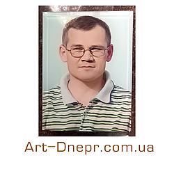 Цветной портрет на могилу. 180х240мм.