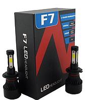 Автомобильные LED-лампы H7 6500K 9000Lm F7 (ЛЕД автолампы с активным охлаждением и влагозащитой)