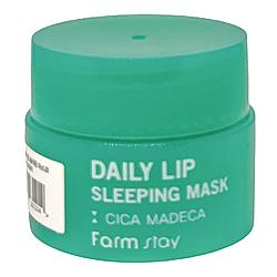 Ночная маска для губ с экстрактом центеллы FarmStay Daily Lip Sleeping Mask Cica Madeca