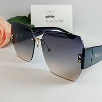 Новинка!2021 Женские солнцезащитные безоправные очки с нейлоновыми линзами и широкой дужкой