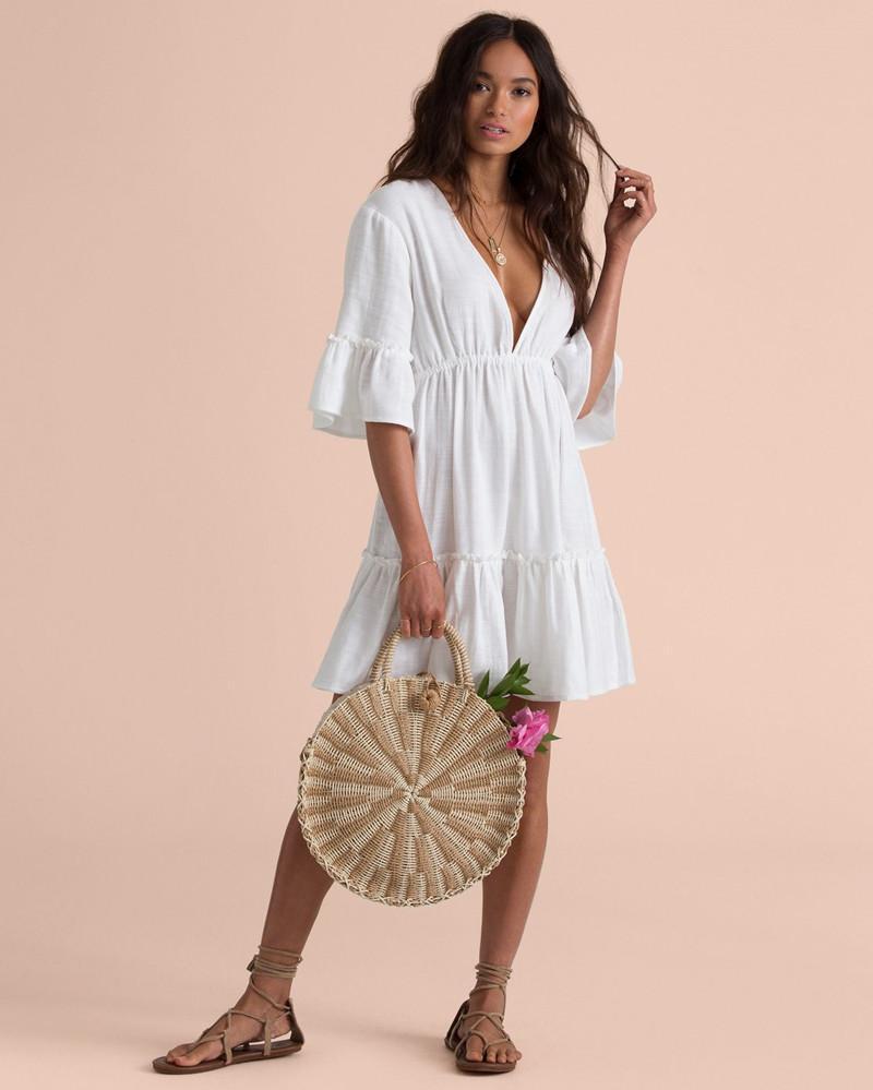 Пляжная белое платье Bea