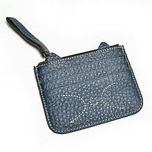 Картхолдер на 6 карт с карманом для купюр «Cat C077» темно-синий