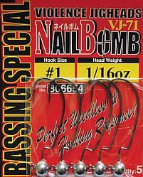 Джиг головка Decoy Nail Bomb VJ-71 1/0, 1.8g 5 шт/уп