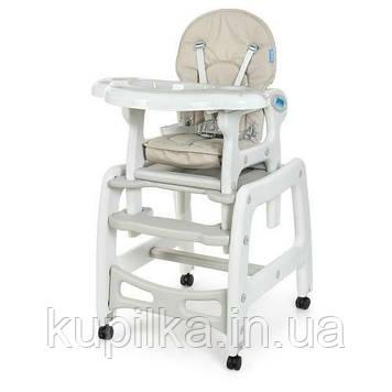 Детский стульчик-трансформер для кормления Bambi M 1563-11, серый