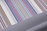 Лоскут однотонної тканини Duck сірого кольору (холодний тон) 50 * 45 см, фото 2