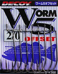 Крючок Decoy Worm5 Offset 06, 9 шт/уп