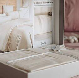 Евро размер «Ranforce Gala krem» постельное белье Турция