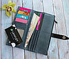 """Кошелек кожаный """"Leaflet"""" с RFID защитой + ПОДАРОК, фото 2"""