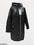 Жіноча демісезонна куртка-плащ великих розмірів Solo SK-31, фото 2