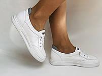 Nadi Bella. Женские кеды-кроссовки белые. Натуральная кожа. Размер 36.37.39.  Vellena, фото 3