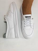Nadi Bella. Женские кеды-кроссовки белые. Натуральная кожа. Размер 36.37.39.  Vellena, фото 7