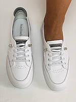 Nadi Bella. Женские кеды-кроссовки белые. Натуральная кожа. Размер 36.37.39.  Vellena, фото 9