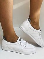 Nadi Bella. Женские кеды-кроссовки белые. Натуральная кожа. Размер 36.37.39.  Vellena, фото 6