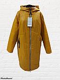 Жіноча демісезонна куртка-плащ великих розмірів Solo SK-31, фото 8