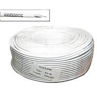 Кабель RG-58U медь Satline (1*0,81CU+полиэт+96*0.1LCu) диаметр 5мм, белый, 100м
