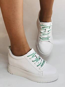 Nadi Bella. Женские кеды-кроссовки белые на платформе. Натуральная кожа. Размер 36,37,38,39,40